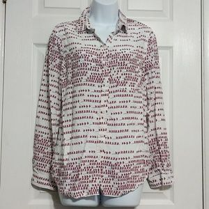 BeachLunchLounge Button Down Top size M